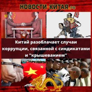Китай разоблачает случаи коррупции, связанной с синдикатами и крышеванием Новости Китая
