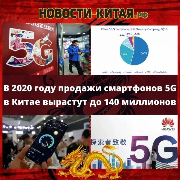 В 2020 году продажи смартфонов 5G в Китае вырастут до 140 миллионов Новости Китая