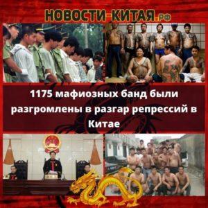 1175 мафиозных банд были разгромлены в разгар репрессий в Китае