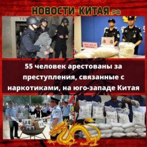 55 человек арестованы за преступления, связанные с наркотиками, на юго-западе Китая