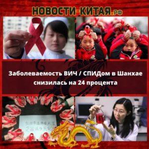 Заболеваемость ВИЧ / СПИДом в Шанхае снизилась на 24 процента