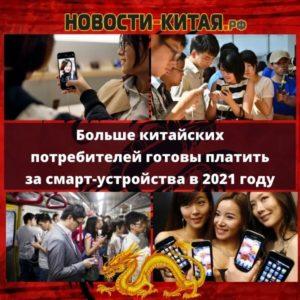 Больше китайских потребителей готовы платить за смарт-устройства в 2021 году Новости Китая