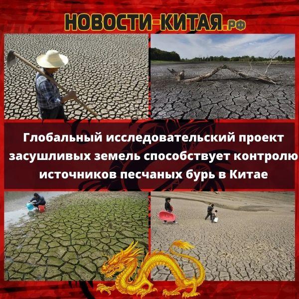 Глобальный исследовательский проект засушливых земель способствует контролю источников песчаных бурь в Китае