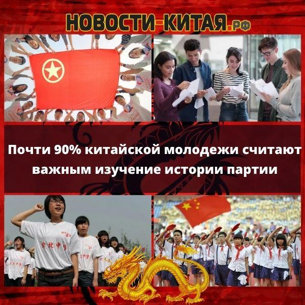 Почти 90% китайской молодежи считают важным изучение истории партии