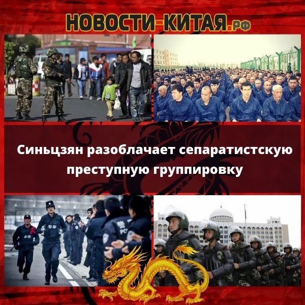 Синьцзян разоблачает сепаратистскую преступную группировку