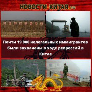Почти 19 000 нелегальных иммигрантов были захвачены в ходе репрессий в Китае